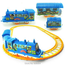hildren's small train model/rc car assembled electric rail car toys/car model/baby toys for children/toy/(China)