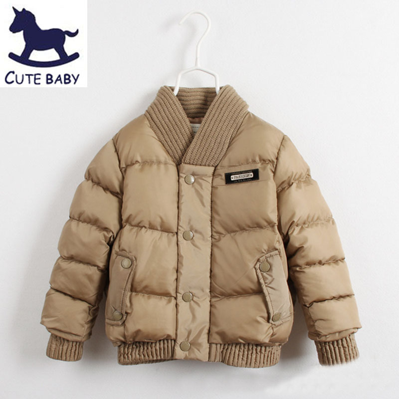New 2015 Boys winter coat Wool collar outerwear childrens Thick jackets baby boys clothing Warm jackets for boys kids 2-10AgesОдежда и ак�е��уары<br><br><br>Aliexpress