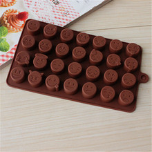 28 Different Cute Lovely Expression Sillicone Fondant Cake Chocolate Mold for the Kitchen Baking Decorations and Tool E134