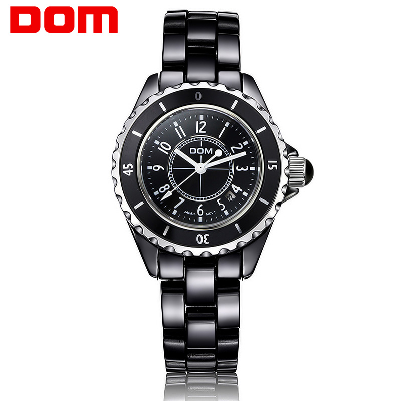 Watch Woman Ceramic Quartz Watches Luxury Top Brand Woman  2016 Waterproof  Dress Clock Wristwatches free shipping T-598-1M<br>