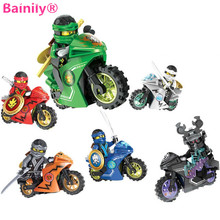 [Bainily]258A Hot Motorcycle Building Blocks Bricks Toy For Children Gifts