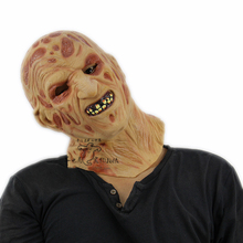 2017 Freddy burn Scary Party Masks Latex Skull Mask of Jason Full Head Face Breathable Halloween Mask Party Cosplay Costume Toy