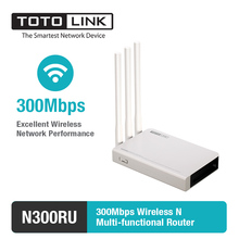 TOTOLINK N300RU Wireless N 300Mbps WiFi Router WiFi Repeater with USB 2.0 Port Supports Printer Server/FTP Server