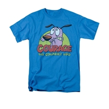 Courage The Cowardly Dog Logo Cartoon Network Licensed Adult Shirt S-3XL men's top tees