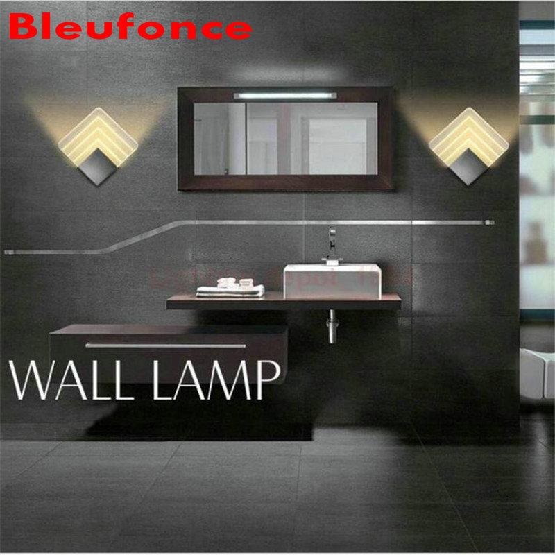 Modern 5W LED Wall Light AC85-265V Restroom Bathroom Bedroom Reading Wall Lamp Decoration Ligh 2pc/lot HZ61<br><br>Aliexpress