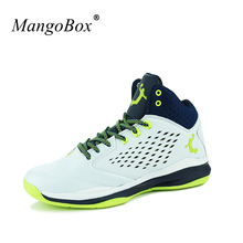 MangoBox Boys Basketball Sport Shoes Anti-Slippery Basketball Trainers Mens New Trend Gym Boots Men Sneakers High Top(China)