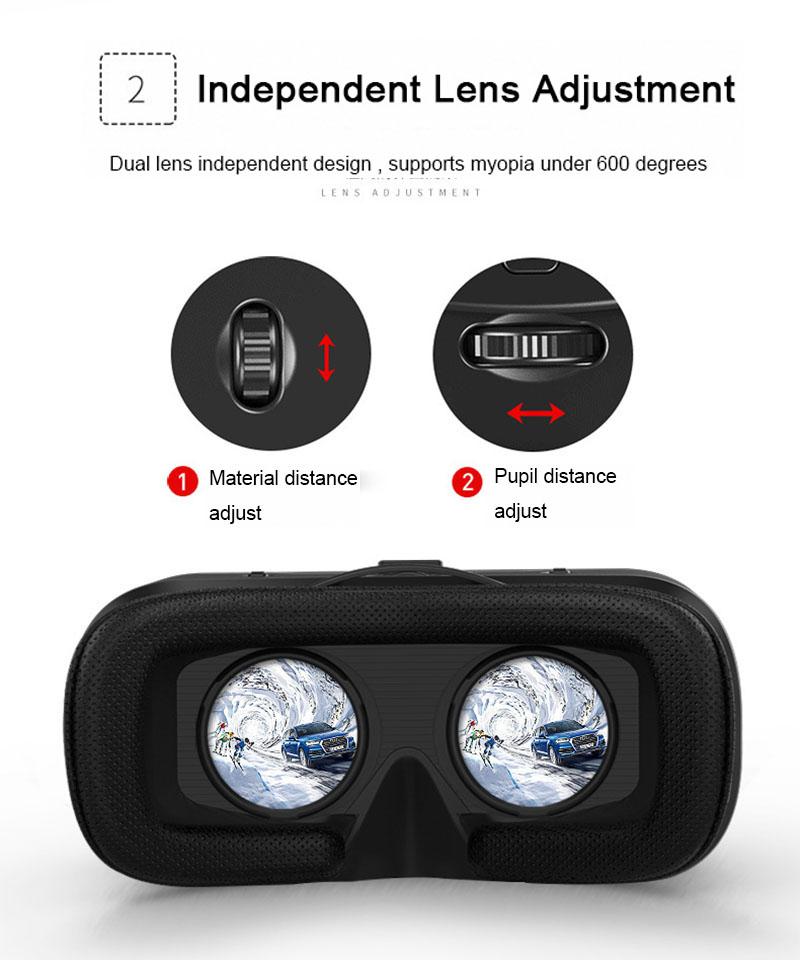 Original VR Shinecon 6.0 Virtual Reality 3D Glasses Cardboard VRBOX Helmet For 4.0-6.0 inch Smartphone With Wireless Controller 13