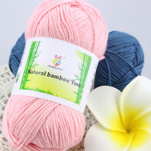 500g/Lot Baby Silk Bamboo Cotton Thick Threads Yarn For Hand Knitting Children's Summer Dresses Cheap Knitting Yarns Laine coton