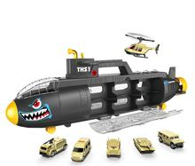 Fun Children's submarine, toy alloy die casting, mini tank aircraft, submarine models, children's educational toys, submarines