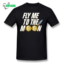 Buy Pure Cotton Short Sleeve O Neck Male T Shirt Normal Large Size T-Shirt T Shirts Bitcoin Fly Moon Bitcoin Funny Tee for $9.90 in AliExpress store