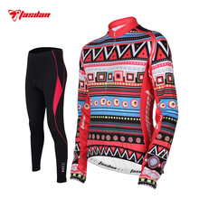 Tasdan Cycling Wear Cycling Clothes Women's Winter Cycling Jersey Sets(China)