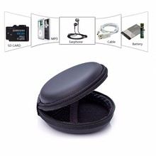 Mini Earphone Headset Case Zipper Storage Earphone Bag Protective USB Cable Organizer Portable Earphone Pouch(China)