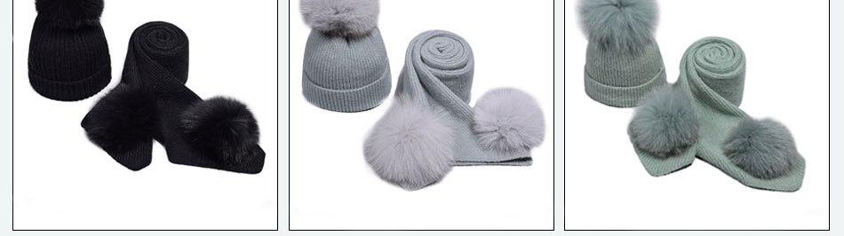 قبعة ووشاح للفتيات 6