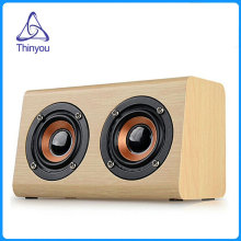 Thinyou Retro Wood Wireless Bluetooth Speaker Portable Mini 3D HiFi stereo Dual Loudspeakers Bass Subwoofer with TF Card music(China)