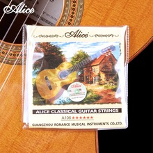 Classical Guitar Strings Clear Nylon Silver-plated Copper Alloy Wound Alice A106 series(Hong Kong)