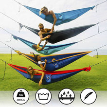 High Quality Outdoor Hammock Goodwin Widening Twin Indoor Camping And Leisure Parachute Silk Hammock Swing