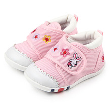 Hot Kids Baby Shoes Embroidered Rabbit Rubber Sole Baby Boy First Walking Sports Shoes 1-3 Years Old
