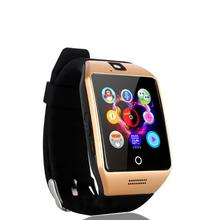 10pcs 2017 new Bluetooth Smart Watch Q18 Smartwatch Support SIM Card Video camera Support Android/IOS Smart Phone PK DZ09 GT08