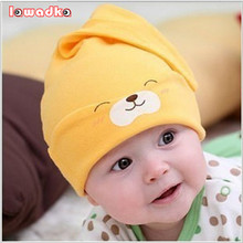 2015 New Baby Hat Autumn Winter Baby Beanie Warm Sleep Cotton Toddler Cap Toddler Infant Kids Newborn Clothing Accessories Hat(China)