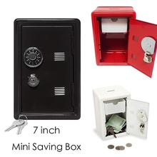 New Arrival Mini Metal Code Case Safe Box Cute Money Bank Saving Box with Key gift box Kids Friend Gift xmas Present 3(China)