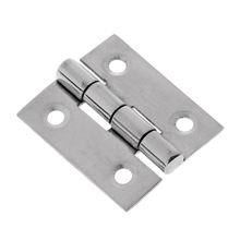 Heavy Duty Marine Grade Stamping Silver Stainless Steel Marine Boat Caravan Deck Cabinet Drawer Door Butt Hinge 4x3.2x0.15 cm(China)