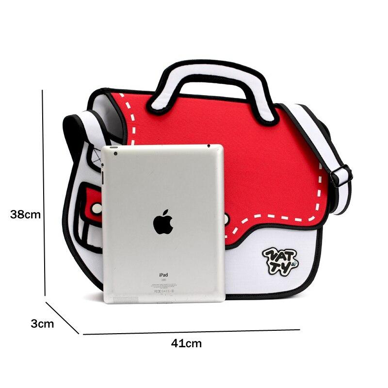 cdf0bfc027ce MINCH 3D Drawing Cartoon Paper Comic Handbag Women Shoulder ...