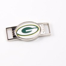 Green Bay Packers NFL Football Team Logo Oval Shoelace Charms For Sport Shoes And Paracord Bracelets Jewelry Decoration 6pcs