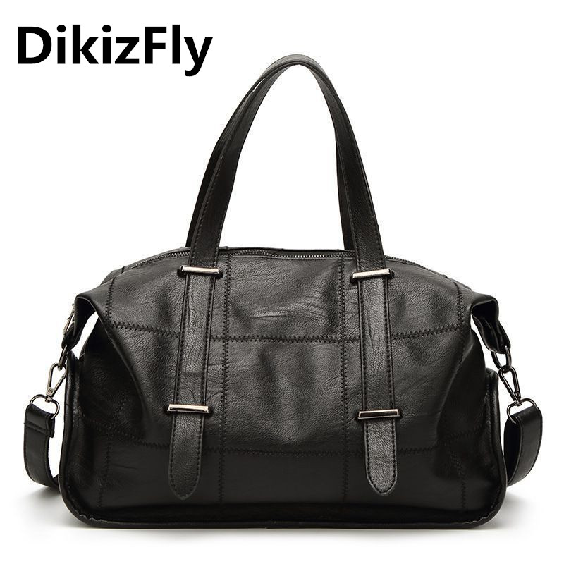 DikizFly women bags Pillow Big Totes woman handbags large capacity Messenger bags Solid Casual Crossbody bag for women 2018 New<br>