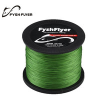 500M Brand Superpower 8 Strands Strong Japan Multifilament 100%PE Braided Fishing Lines 89, 92, 100, 140 LB Yellow, Blue, Green(China)