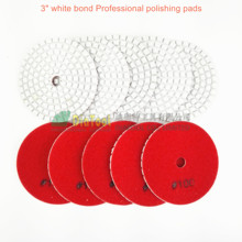 "DIATOOL 10 Pcs Grit #100 Dia 80mm Diamond Wet Flexible Polishing Pads B 3"" White Bond Sanding Disc Granite & Marble Polishing(China)"