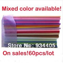 Free shipping on sale mixed color tissue paper Floral wrapping paper flower packing material 50*50cm 60pcs/lot