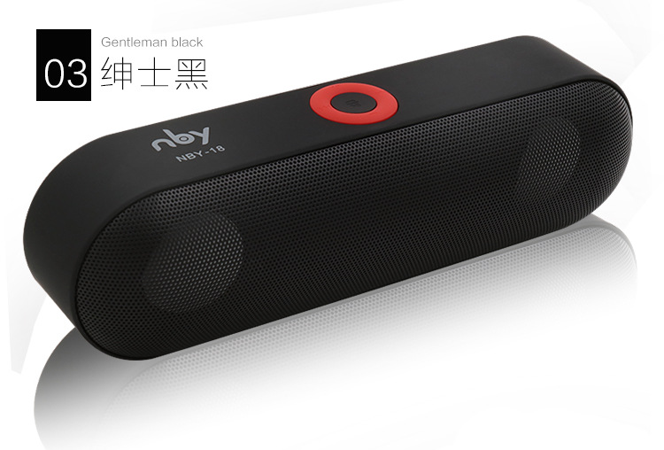 New NBY-18 Mini Bluetooth Speaker Portable Wireless Speaker Sound System 3D Stereo Music Surround Support Bluetooth,TF AUX USB<br><br>Aliexpress