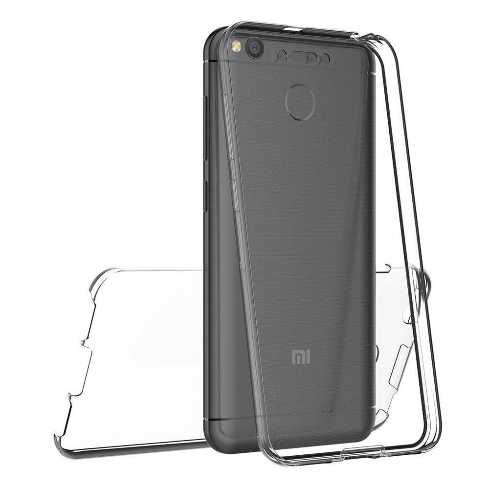 360 Degree Transparent Silicone Case For Xiaomi Mi A1 Redmi 5 Plus 4X 5A Capa Full body Front And Back Coque For Redmi Note 5A 5