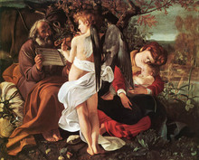 100 %hand-painted famous artists painting reproduction by Caravaggio handmade canvas oil painting Rest-on-Flight-to-Egypt