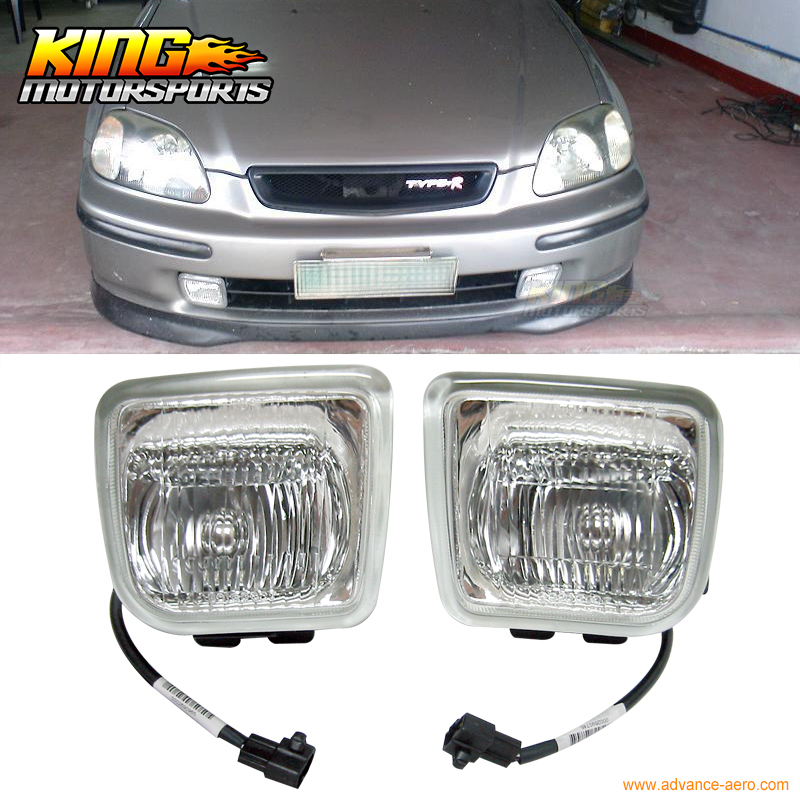 For 96-98 Honda Civic EK JDM Clear Lens Fog Lights 1996 1997 1998 USA Domestic Free Shipping Hot Selling<br><br>Aliexpress