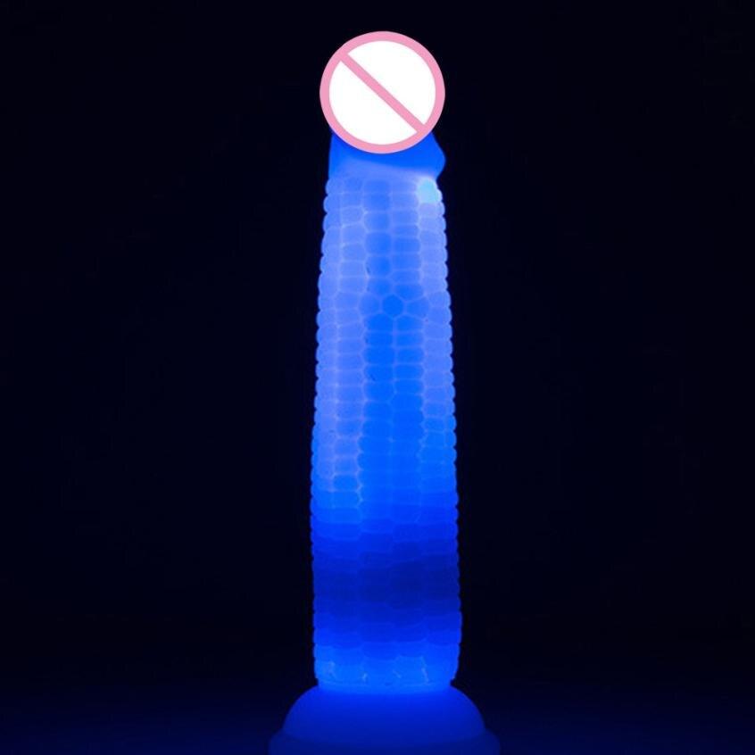 Dildos for women Masturbators Massager Silicone Penis Sex Toy Dildo Anal LED Waterproof Sucker Adult Toys De18<br>