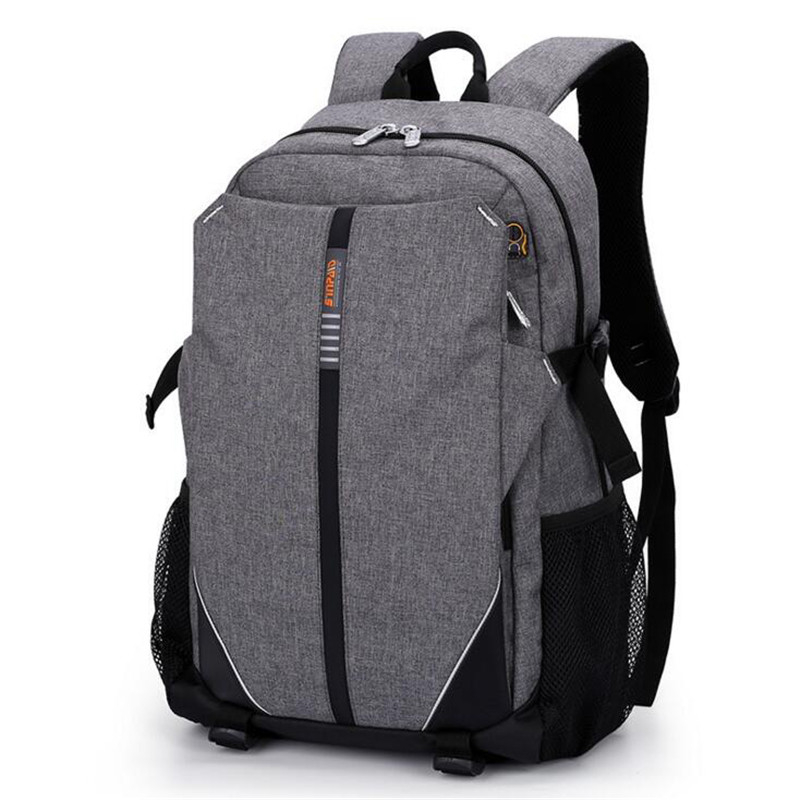 Casual Waterproof Oxford Backpacks Earphone Hole Solid Color Business Backpacks Famous Brand High-capacity Computer Bag H021<br>