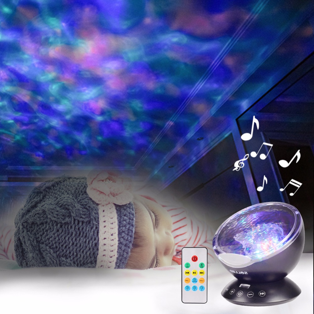 Lumiparty LED Night Light Ocean Wave Starry Sky Aurora Projector Luminaria Novelty Lamp USB Lamp Nightlight Illusion For Baby Children3