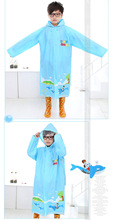 2016 Hot Top Quality Cartoon Kids Fashion Raincoat Poncho Boy Girl Students Take Bag A Raincoat Cheap Sales