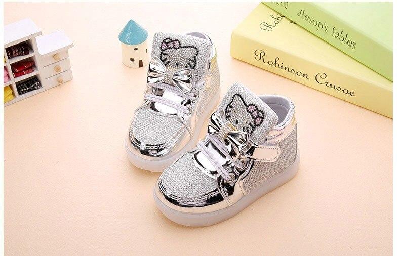 KT Chats Enfant Lumineux Sneakers 2018 avec lumière 18
