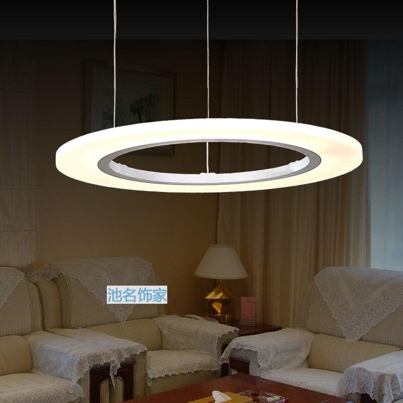 Modern Circle LED Bedroom Pendant Lights 20/40CM Suspension Luminaire Acrylic Pendant Lighting For Restaurants Bar Lamp Fixtures<br><br>Aliexpress