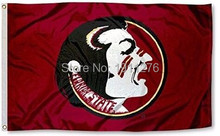 NCAA Florida State University Seminoles Flag USA 3x5 FT 150X90CM Banner 100D Polyester flag brass metal holes