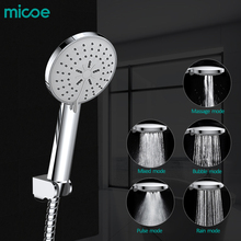 Micoe Five function High Pressurized Water Saving ABS Chrome Plastic Hand Shower Head Bathroom Round Shape Showerhead HS-22-1D