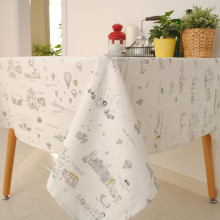 1Pcs Europe Style Fancy Series Cute cartoon Cotton+Linen Home Decoration Table Cloth For Dining Table /Towel Accept Customized