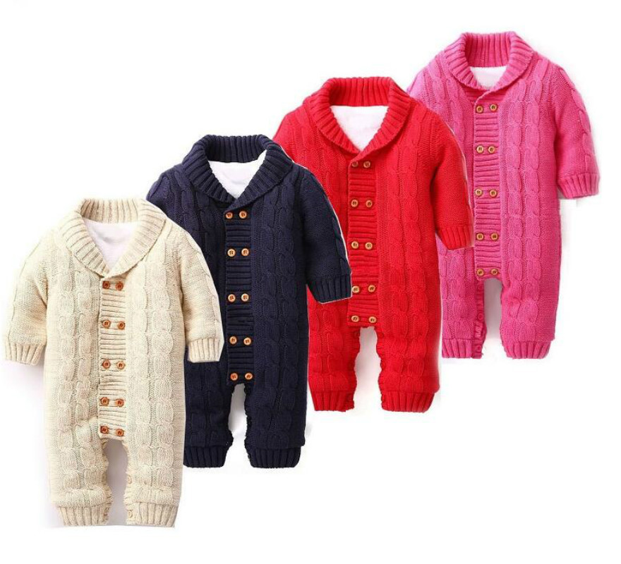 100% Cotton Winter Newborn Baby Rompers Plus Velvet Warm Baby Girls Costume Baby Boys Outfits Infant Clothing Baby Clothes<br>