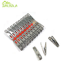 Stainless Steel Clothes pegs Metal clip for coat pants laundry drying hanger rack folder washing accessories Novelty household(China)