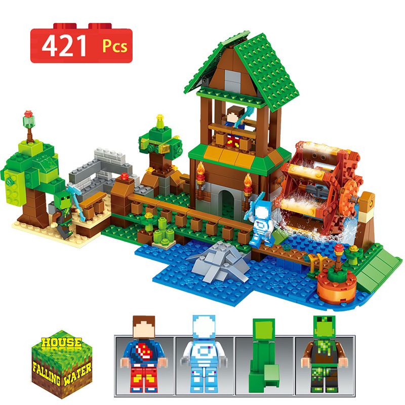 Farm Cottage Model Doll House Model Figure Building Blocks Toys Compatible With LegoINGLYs Minecrafted Children Birthday Gifts<br>
