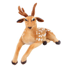 2017 Hot New Product Simulated Sika Deer Plush Toy Lying Deer Deer Doll Christmas Giraffe For Festival Hight Quality(China)