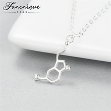925 Sterling Silver Fashion Unique Dopamine Molecule Chemistry Design Pendant Necklace Chemical Jewelry(China)