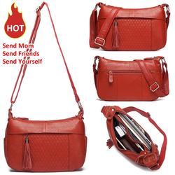 KAVIS 100% женская сумка на плечо из натуральной кожи женская сумка-мессенджер женские сумки Дизайнерские Высокое качество через плечо